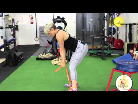 Bent Over Row with Resistance Band
