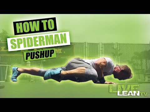 How To Do SPIDERMAN PUSH UPS | Exercise Demonstration Video and Guide