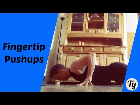 How to do Finger Tip Push Ups! (Great Exercise for STRONG Hands!)