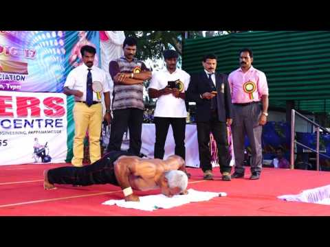 Knuckle push ups world record performence by JACKSON ATTINGAL