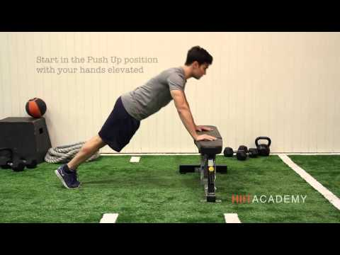 HIIT Exercises: How to do Hand Elevated Push Ups