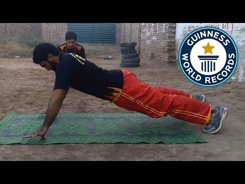 Most thumb push ups in one minute - Guinness World Records